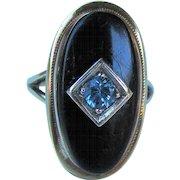 Vintage 10K Onyx Ring Circa 1940