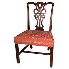 Antique English Georgian Mahogany Chippendale Side Chair Circa 1770