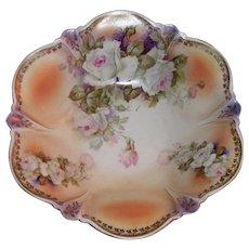 Antique German Hand Painted Porcelain Fruit Bowl Circa 1920