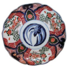 Antique Japanese Imari Plate Meiji Period 19th Century