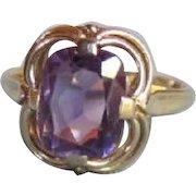 Vintage 8K Gold Amethyst Ring Circa 1940