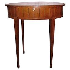 Antique Russian Mahogany Inlaid Side Table Circa 1790