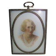 Antique Portrait Miniature Circa 1920's