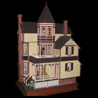 Amazing Vintage Handmade Victorian Style Doll House OOAK