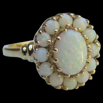 Vintage 10K Gold Opal Ring Circa 1970
