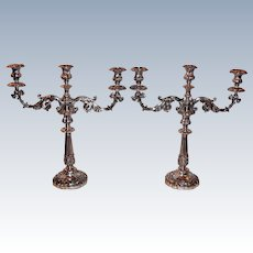 Antique Georgian Silver Sheffield Plate Candelabras Dan Holy Circa 1810