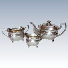 Antique Irish Georgian Sterling Silver Tea Service Dublin 1813