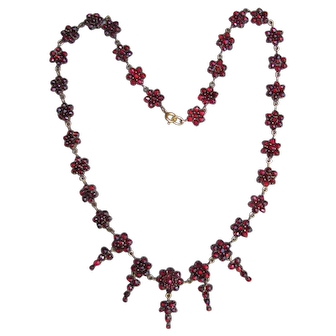 Antique Victorian Garnet Necklace Circa 1860