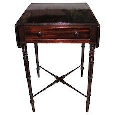 Antique English Georgian Mahogany Side Table Circa 1815