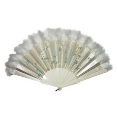 Antique Victorian Hand Painted Fan Circa 1870
