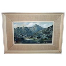 Charles Wyatt Warren Oil on Board Painting Mid 20th Century