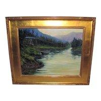 American Oil On Canvas Painting Don Kolstad