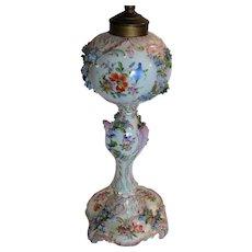 Antique Dresden Porcelain Lamp Carl Thieme Hand Painted