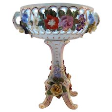 Antique Dresden Porcelain Compote Carl Thieme Circa 1920