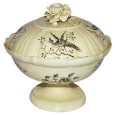Antique 18th Century Wedgwood Creamware Covered Serving Dish Compote Rare!