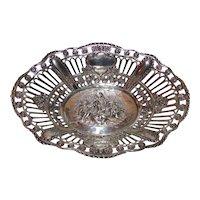 Antique German .800 Silver Bonbon Dish Circa 1900