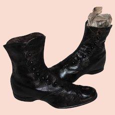 Antique Victorian Childrens Button Up Shoes Boots Circa 1880