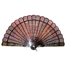 Rare Chinese Qing Dynasty Export Fan Circa 1840