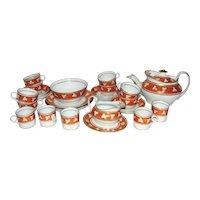 Antique Georgian Porcelain Tea Set Circa 1820