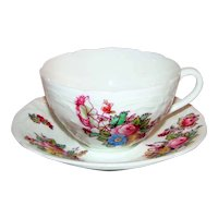 Antique Coalport Teacup and Saucer Sevres Series After 1919