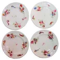 Four Antique Coalport Bread and Butter Plates Sevres Series 1891- 1919