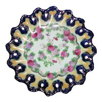 Antique Japanese Moriage Hand Painted Plate Circa 1920