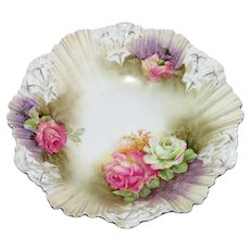 Antique RS Prussia Porcelain Fruit Bowl Circa 1900