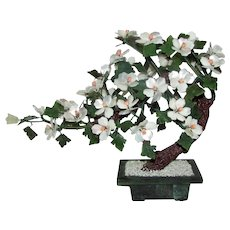 Vintage Chinese Jade Tree Coral Mother of Pearl 20th Century
