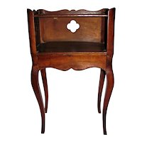 Antique French Walnut Side Table Night Stand Mid 18th Century