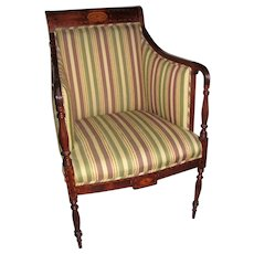 Antique American Federal Mahogany Armchair 19th Century
