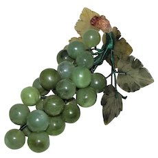 Vintage Chinese Jade Carved Grapes