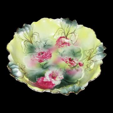 Antique R.S. Prussia Porcelain Fruit Bowl Circa 1890