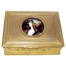 Antique French Limoges Enameled Jewelry Box Circa 1880