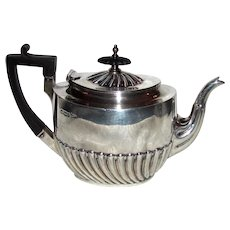 Antique English Sterling Silver Teapot Walker and Hall Sheffield 1900