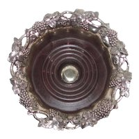 Antique Old Sheffield Plate Silverplate Wine Coaster Circa 1820