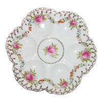 Antique Imperial Crown China Porcelain Oyster Plate Early 20th Century