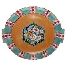 Antique Art Deco Porcelain Lusterware Cake Plate Japanese Circa 1925