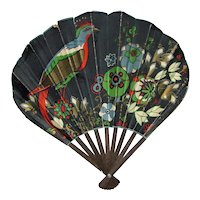 Antique Art Deco Advertising Fan Circa 1925