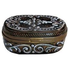 Antique Bressan Enamel Snuff Box 19th Century