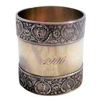 Antique Gorham Sterling Silver Napkin Ring 1906