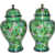 Pair Antique Chinese Cloisonné Jars with Covers Circa 1920