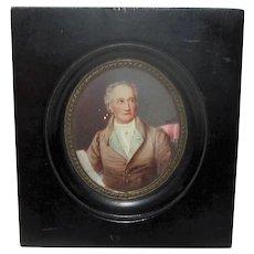 Antique Portrait Miniature 19th Century