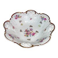 Vintage Reichenbach Porcelain Centerpiece Bowl Mid-Late 20th Century