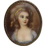 Antique Portrait Miniature Countess Sofia Potocka Circa 1900