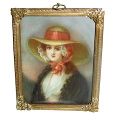 Antique Portrait Miniature Circa 1900