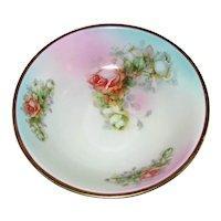 Antique Austrian Hand Painted Porcelain Fruit Bowl Circa 1920