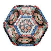 Antique Japanese Imari Fruit Bowl Meiji 19th Century