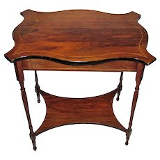 Antique English Victorian Rosewood Side Table Circa 1870
