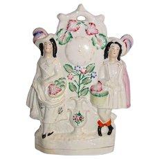 Large Antique English Staffordshire Pottery Figurine Circa 1850