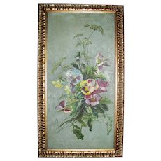 Antique Oil on Canvas Painting 19th Century